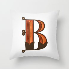 The Letter B Throw Pillow