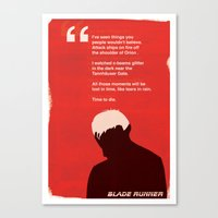 BLADE RUNNER TEARS IN RA… Canvas Print