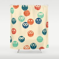 Owl Spots Shower Curtain