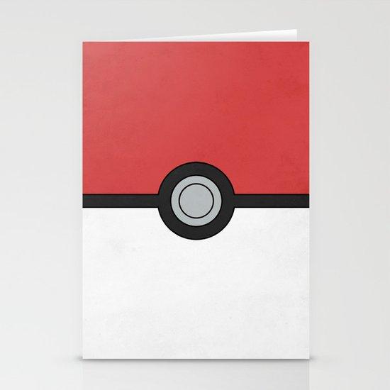 Minimal Pokéball Poster - Pokemon Classic Stationery Card