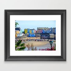 Tenby Harbour.Colour.Reflection. Framed Art Print