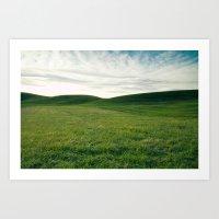 Rolling Hills Of Green Art Print