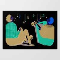 Paul And Silas Singing I… Art Print