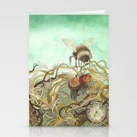 Bumblebee In Thorns Stationery Cards