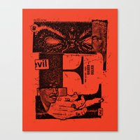 E For Evil Canvas Print