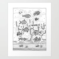 Diversity (underwater) Art Print