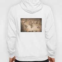 Stars world map. Sepia Hoody