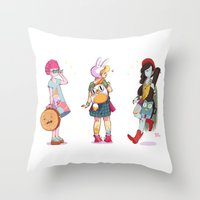 Personal Backpacks Throw Pillow