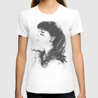 Kacie Marie Womens Fitted Tee White SMALL