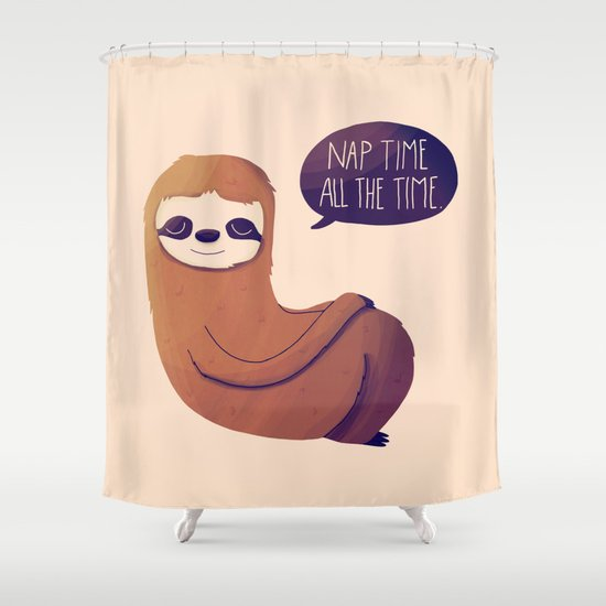Nap Time All The Time Shower Curtain