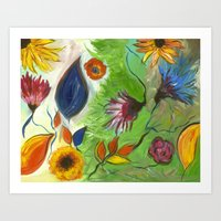 Flower Swirls Art Print