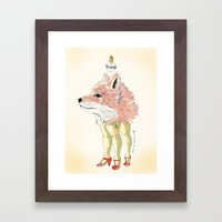 Foxy Framed Art Print