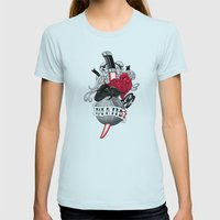 DeathStar Womens Fitted Tee Light Blue SMALL