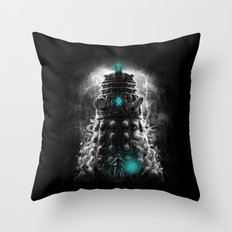 Shadow Of The Dalek Throw Pillow