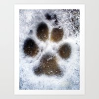 set in snow. Art Print