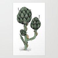 Artichoke Fairies  Art Print