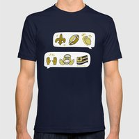 #BlackAndGold Mens Fitted Tee Navy SMALL