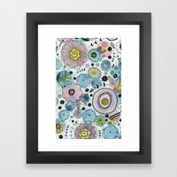 Blue And Purple Flowers Framed Art Print