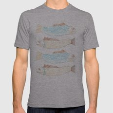Peces Mens Fitted Tee Athletic Grey SMALL
