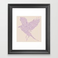 Flight In Swirls Framed Art Print