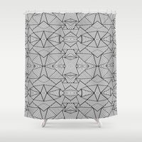 Abstract Mirror Black On… Shower Curtain