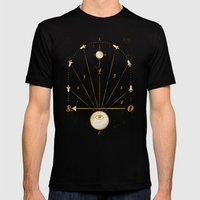 Time Travel Mens Fitted Tee Black SMALL