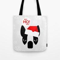 Santa Boston Terrier Tote Bag