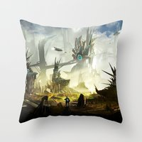 Frontier Line Throw Pillow