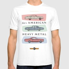 Motor Style Inc.: 60s American Heavy Metal Mens Fitted Tee White SMALL