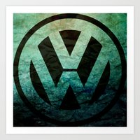 vw Art Prints featuring #VW  by Candace Fowler Ink&Co.