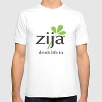 Zija Mens Fitted Tee White SMALL