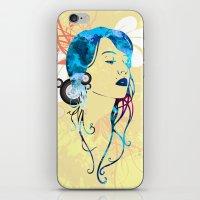 Retro Woman Vector iPhone & iPod Skin