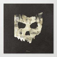 Ohio Skull Canvas Print