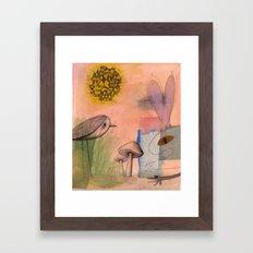 Mushroom Eater Framed Art Print