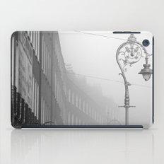 Dublin street lamp in the fog iPad Case