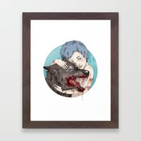 Dog-Eared Framed Art Print