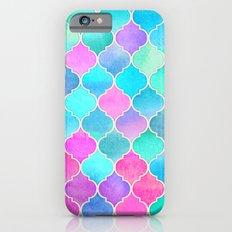 Bright Moroccan Morning - pretty pastel color pattern Slim Case iPhone 6s