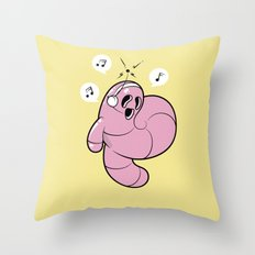 Worms Of Music Throw Pillow