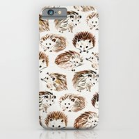 iPhone Cases featuring Hedgehogs by Cat Coquillette