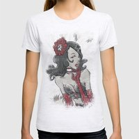 BURLESQUE Womens Fitted Tee Ash Grey SMALL