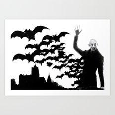 Nosferatu - the real bat Art Print