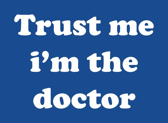 Doctor Who - Trust me i'm the doctor Art Print