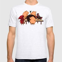 Dinner With Friends Mens Fitted Tee Ash Grey SMALL