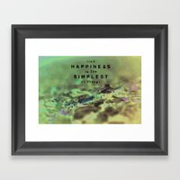 Find Happiness In The Si… Framed Art Print
