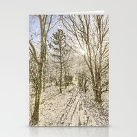 The Forest Path Warm Snow Stationery Cards
