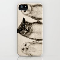 iPhone Cases featuring The Owl's 3 by Isaiah K. Stephens
