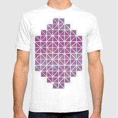 Broken Geometry 2 SMALL Mens Fitted Tee White