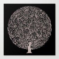 Black and White Tree Canvas Print