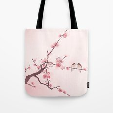 Oriental style painting, cherry blossom in spring Tote Bag