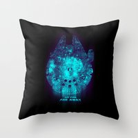 Go Far, Far Away Throw Pillow